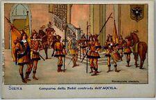 Cartolina Formato Piccolo - Siena - Comparsa della Nobil Contrada Dell'Aquila