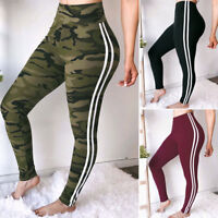 Womens High Waist Yoga Pants Sport Gym Fitness Leggings Running Stretch Trousers