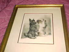 KURT MEYER EBERHARDT  -  THE BEGGARS   -  Signed Original Engraving  -  ADORABLE