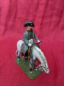 Napoleon Bonaparte on Horseback 1/32 Collectible Metal Figurine Napoleonic Wars