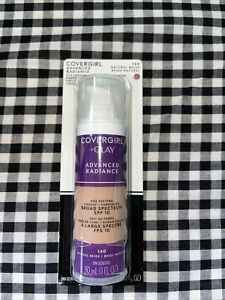 Covergirl Advanced Radiance Age Defying Makeup 140 Natural Beige Sealed Exp 6/21