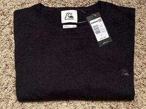 Quicksilver Kelvin Crew Lightweight Sweater Size L Color Gray Retail $49.95