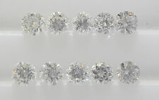 1.5mm 10pc 0.14cts Total G Color Natural Loose Brilliant Diamond VS Clarity