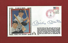 MICKEY MANTLE AUTOGRAPH 1986 AUTO GATEWAY COVER Yankee Legend Signed ENVELOPE