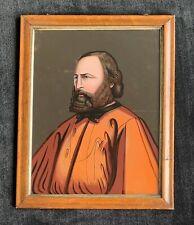 Antique Reverse Glass Portrait Painting
