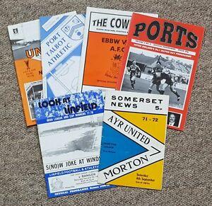 6 Football Programmes – Irish Welsh Scottish – 1971-1997 – All Listed