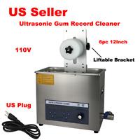 110V Digital Ultrasonic Gum Record Automatic Cleaner Liftable 6 Records Vinyl C