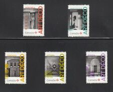lq. ARTDECO = ARCHITECTURE = Die Cut to Shape = Set of 5 Canada 2011 #2472i-76i