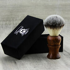 Men's Shaving Brush with Synthetic Hair in Pure Rose Wood Handle Perfect Gift