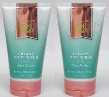 2 Bath & Body Works COCONUT MINT DROP Creamy Body Scrub w/ Shea Butter 8 oz