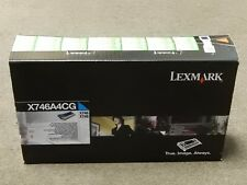 Lexmark X746A4CG Cyan Toner Cartridge X746 X748 Genuine New Sealed Box