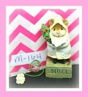❤️Wee Forest Folk M-164 Father Chris-Mouse Noel Christmas Glitter Gray Figure❤️