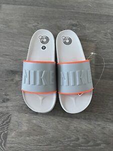 Nike Offcourt Slide Gray Crimson Men's Sandal Sz 11 BQ4839 013