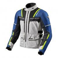 Giacca moto Rev'it Revit Offtrack grigio silver blu taglia L jacket
