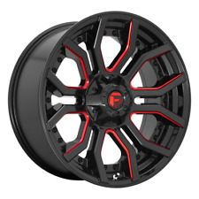 "4-Fuel 1Pc RAGE Gloss Black Red Tinted Clear 20x10"" Rims RAM HD GM 8X6.5-18"
