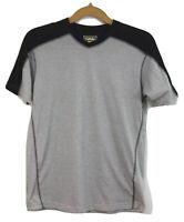 Cabela's Granite Activewear T-Shirt Mens Size LT Gray Black V-neck MSRP $24.99