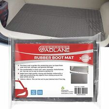 GADLANE Black Rubber Car Boot Mat Universal Non Slip Heavy Duty Protector Liner
