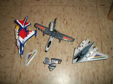 Lot of 1990s Tranformer Jets for parts or repair F-16 A-10 F-117