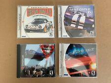 4 SEGA DREAMCAST GAMES Lot Super Runabout - Sega Rally - Roadsters - Test Drive