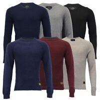 Mens Jumper Threadbare Knitted Cotton Sweater Half Zip Pullover Top Winter New