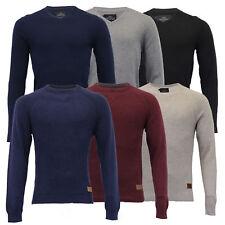 Mens Jumper Threadbare Knitted Cotton Sweater Half Zip Pullover Top Winter New