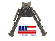 """HBRMS Harris Bipod, extends from 6"""" to 9"""" Hinged Base (Swivels) - Notched legs"""