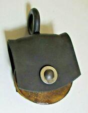 Vintage wooden wheel pulley (my #7) - 8 3/4 iinch overall - refurbished-decor