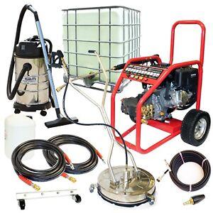 Petrol Jet Washer Business Pack Warrior 3700P Block Paving Driveway Drain Clean