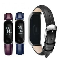 Leather Strap For Xiaomi Mi Band 2 3 4 Wristband Bracelet Replacement Wrist Belt