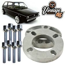 VW Golf Mk1 Mk2 CADDY POLO CORRADO 10 mm Par Pernos de rueda Espaciador Kit M12x1.5 XL