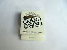 Vintage Grand Casino Grand Advantage Players Club Advertising Matchbook Cover