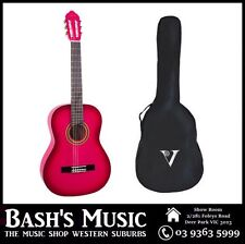 Valencia 3/4 Size Guitar and Bag Pack Beginners Guitar Pink NEW