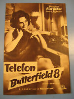 ElizTaylor.Telefon Butterfield IFB Filmprogramm 1950.Jahre.Nr.5558-Movie program