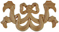 Hand Carved Bow Centrepiece Appliques for bed headboards  carved pinewood, PN457