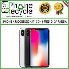IPhone X 64GB 256GB Apple Grado A B Nero Bianco silver Apple Ricondizionato