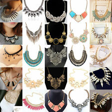 Fashion Womens Crystal Choker Collar Statement Charming Necklace NECK-01 Jewelry