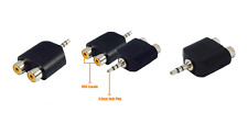 3.5mm audio jack to 2 x RCA female adapter