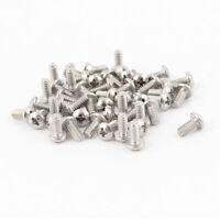 "50 Pcs #4-40 x 1/4"" Stainless Steel Truss Head Phillips Machine Screws 8mm Long"