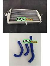 aluminum radiator+ BLUE HOSE fit Honda RS 125 RS125 1987-1994 1988 1989
