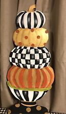 My Hand Painted Stacked Pumpkins And Mackenzie Childs Napkin!