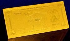 "★★ GUATEMALA : BILLET POLYMER  "" OR "" DU 100 QUETZALES 1959 ★"