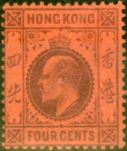 Hong Kong 1903 4c Purple Red SG64 Fine Mtd Mint