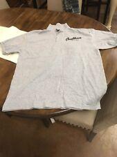NEW Casablanca Coffee & Grill Polo Shirt Hanes ComfortBlend EcoSmart Gray Large