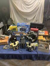 Lot of 17 Vintage Cameras and Photographic Equipment. Kodak, Polaroid, Canon,Etc