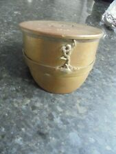 More details for  trench art cap made from a shell 1941 royal signals badge to front of cap