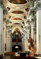 Kirchen Motiv-AK Innenansicht Kirche St. Stephansdom Dom zu Passau Bayern AK