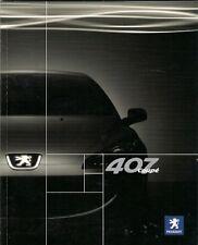 Peugeot 407 Coupe 2006-07 UK Market Sales Brochure GT SE S 2.2 3.0 V6 2.7 HDi