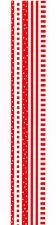 MRS GROSSMANS BASIC RED DESIGN LINE STICKER STRIP