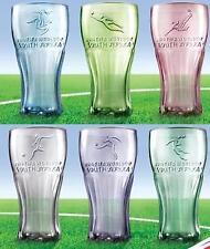 MCDONALDS MCDONALD COCA COLA COLLECTIBLE COKE 2010 WORLD CUP GLASS GLASSES SET