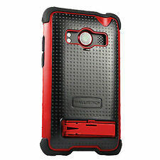 Ballistic Shell Gel Series Fitted Case/Skin for Sprint HTC EVO 4G - Black/Red